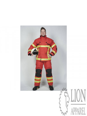 Lion Apparel V-FORCE Überhose rot Baugruppe GR
