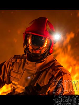 Calisia Vulcan CV 102 Feuerwehrhelm in rot